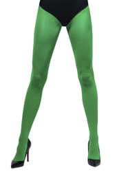 Green Opaque Women's Tights Costume Accessory