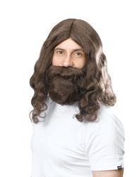 Jesus Wig & Beard Set Costume Accessory