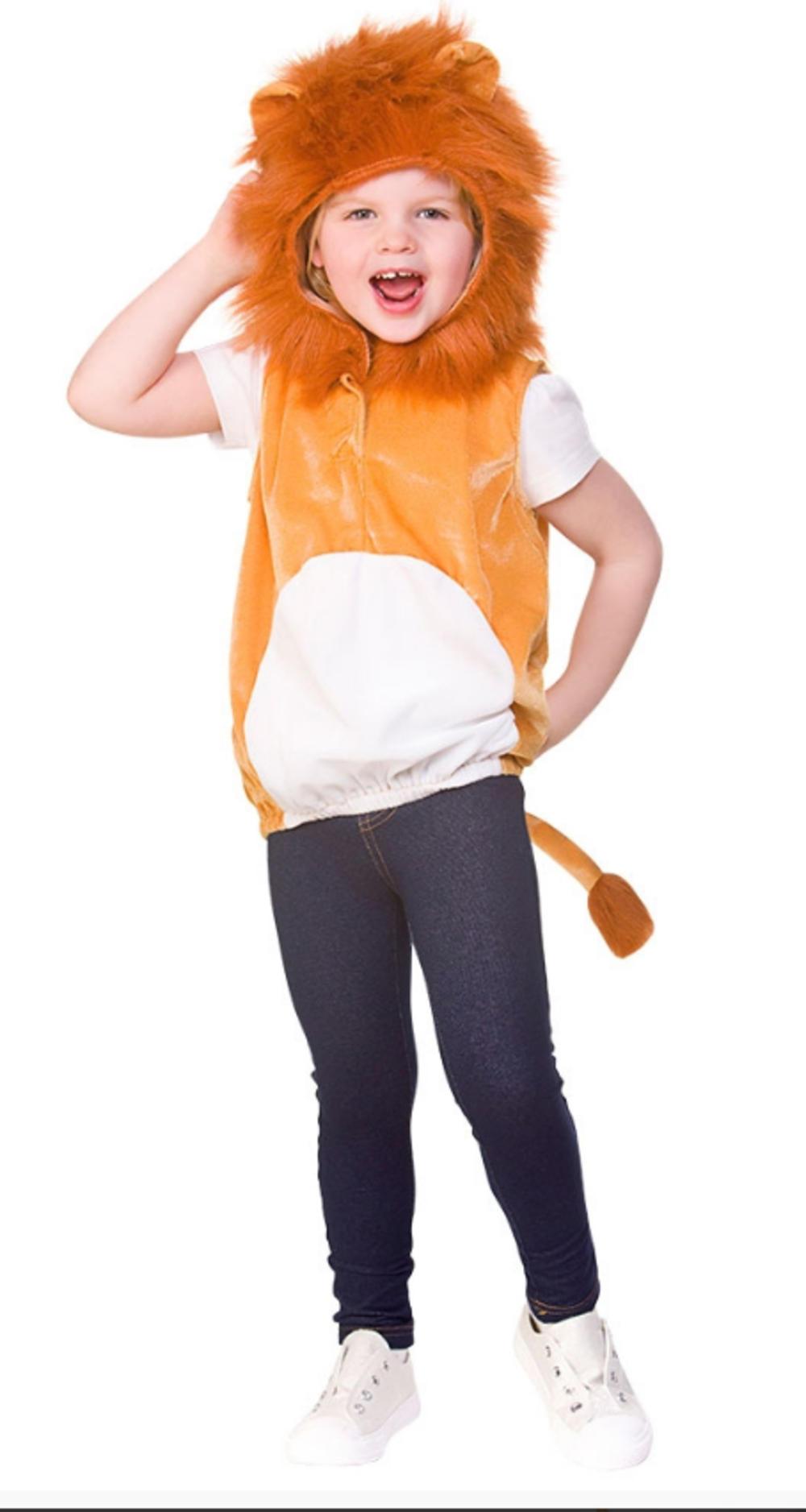 Lion Tabard Kids Costume Animal Wildlife Boys Girls Book Day Week Fancy Dress