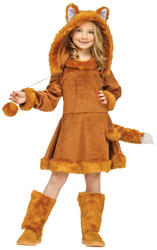 Sweet Fox Girls Fancy Dress Animal World Book Day Character Childs Kids Costume