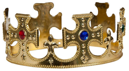 King / Queen Gold Crown Costume Accessory