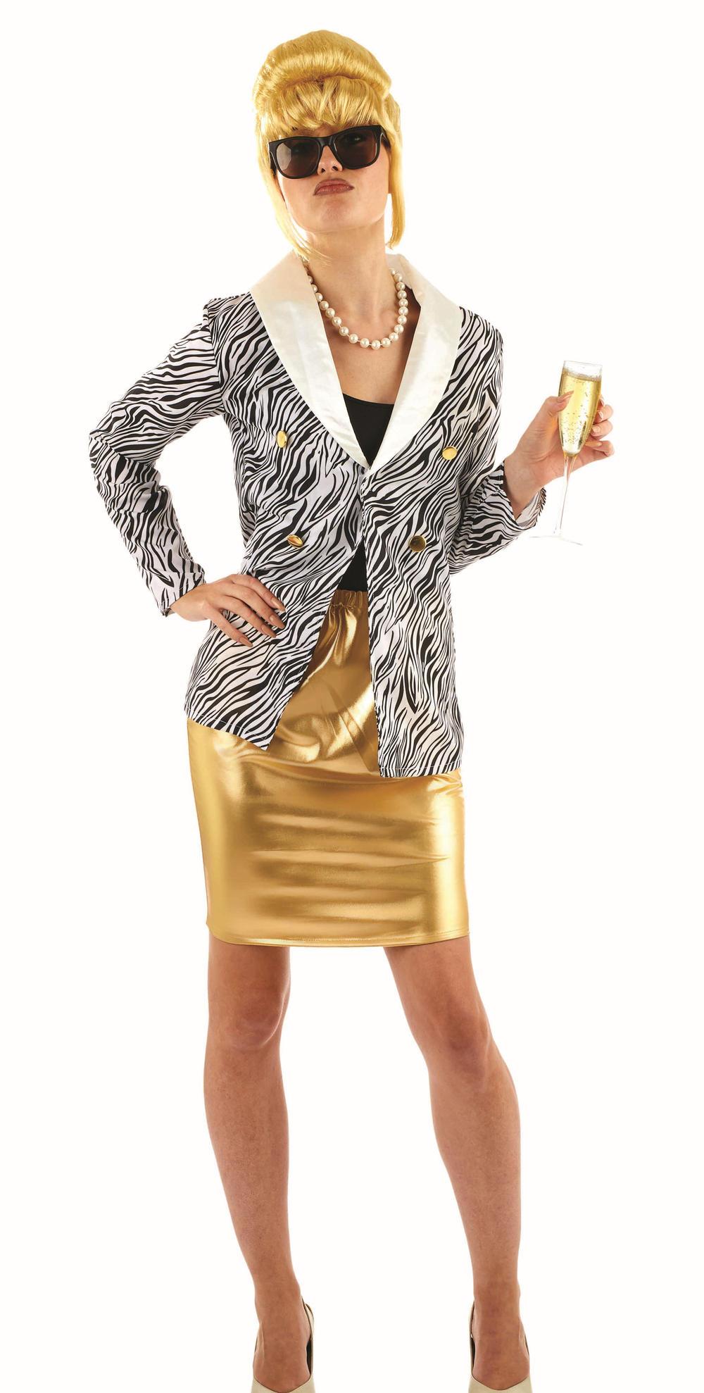 Lady Fabulous Ladies Fancy Dress TV Character Patsy 1990s Womens Adults Costume