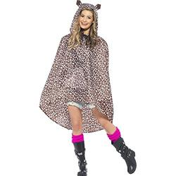 Leopard Party Poncho Costume Accessory