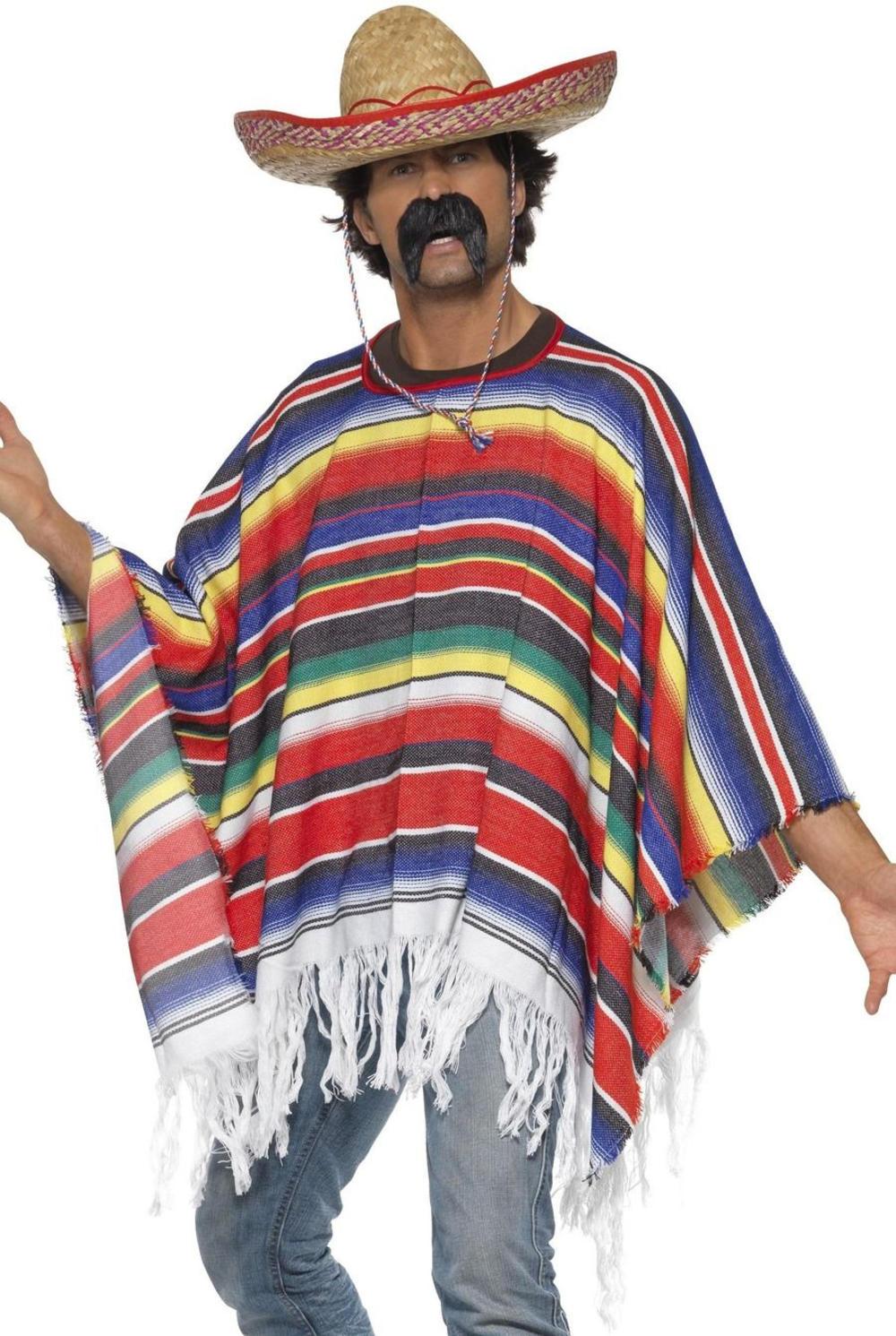 Mexican Poncho Costume Accessory