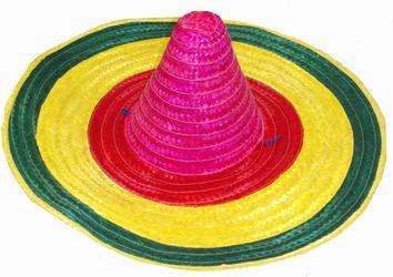 Mexican Sombrero Multicoloured Hat Costume Accessory