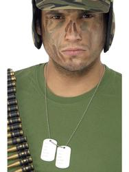 Military Dog Tags Costume Accessory