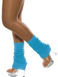 Neon Blue Legwarmers Costume Accessory