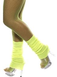 Neon Yellow Legwarmers Costume Accessory