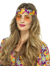 Orange Hippie Specs Costume Accessory