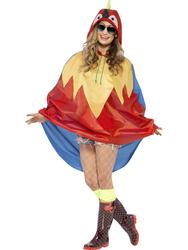 Parrot Party Adults Poncho Costume Accessory