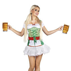 Photorealistic Oktoberfest Ladies Bavarian Fancy Dress German Shirt Costume New