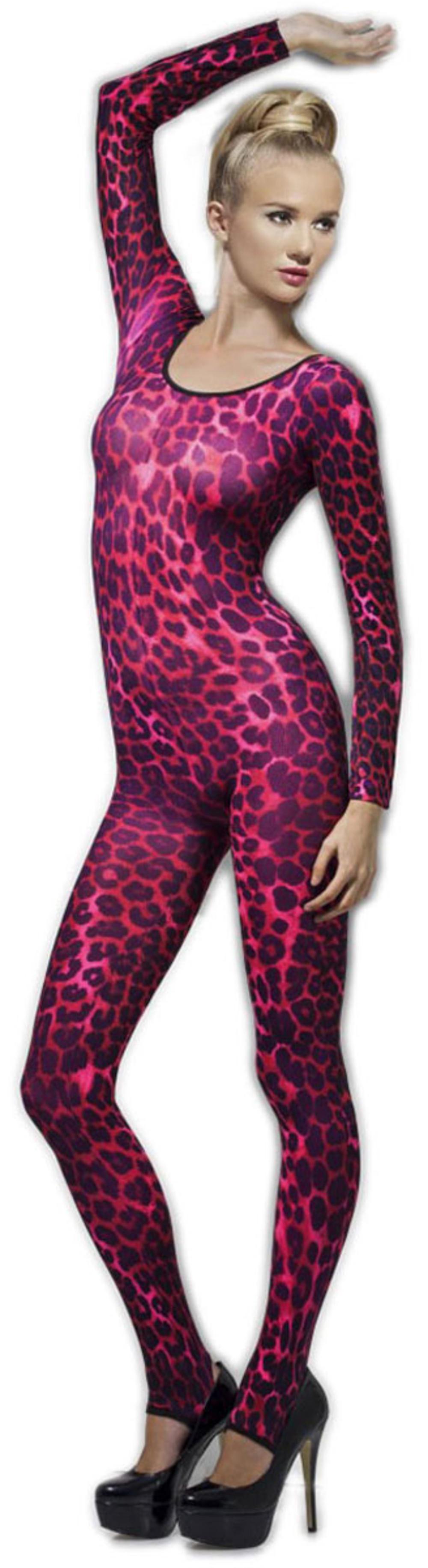Pink Cheetah Print Bodysuit Costume