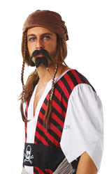 Pirate Moustache and Goatee Set Costume Accessory