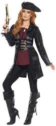 Pirate Jacket Ladies Fancy Dress Caribbean Womens Adults Costume Accessory Coat