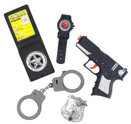 Police Set With Gun Costume Accessory