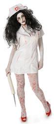 Zombie Bloody Nurse Ladies Fancy Dress Womens Adults Horror Halloween Costume