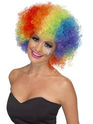 Rainbow Clown Wig Costume Accessory