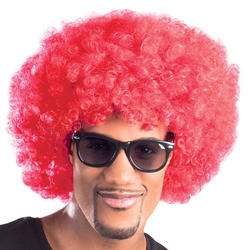 Red Afro Wig Costume Accessory