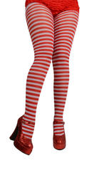 Red and White Candy Christmas Tights Costume Accessory