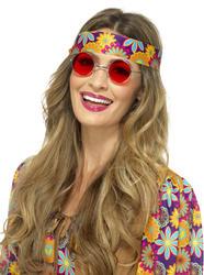 Red Hippie Specs Costume Accessory