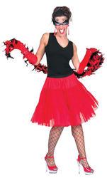 Red Knee Length Petticoat Costume Accessory