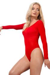 Red Opaque Bodysuit Costume