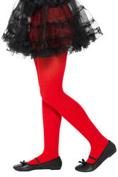 Red Opaque Tights Costume Accessory