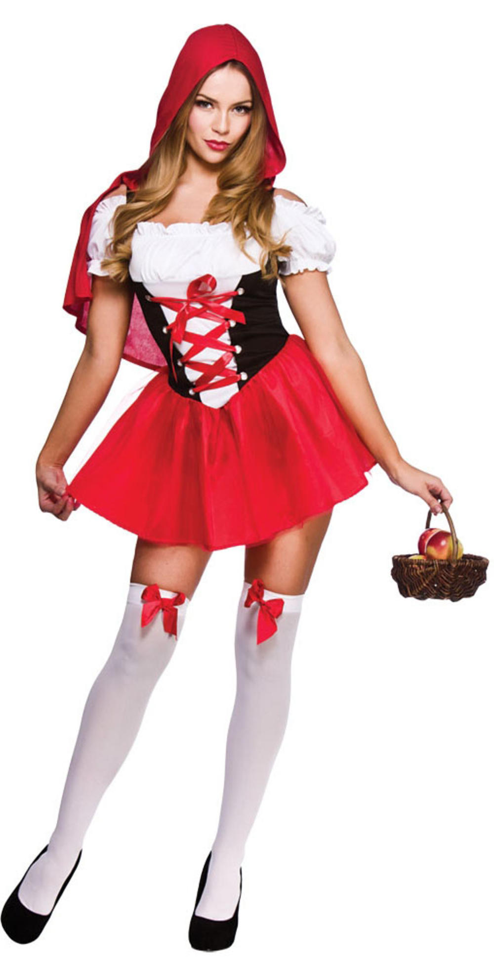 Red Riding Hood Ladies Fancy Dress Fairytale Book Character Womens Costume 6-20
