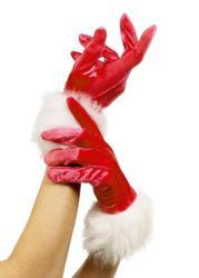 Santa Gloves Costume Accessory