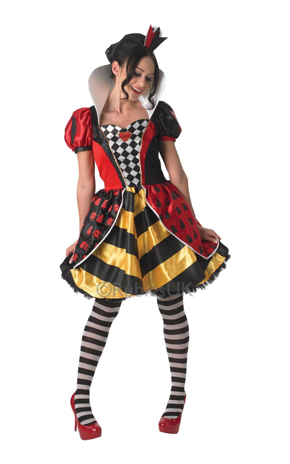 Sassy Red Queen Ladies Fancy Dress Alice in Wonderland Book Week Adults Costume