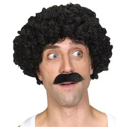 Scouser Guy Wig and Tash Set Costume Accessory