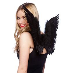 Small Black Angel Wings Costume Accessory