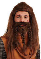 Viking Mens Wig and Beard Costume Accessory