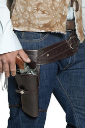 Western Wandering Gunman Belt and Holster Costume Accessory