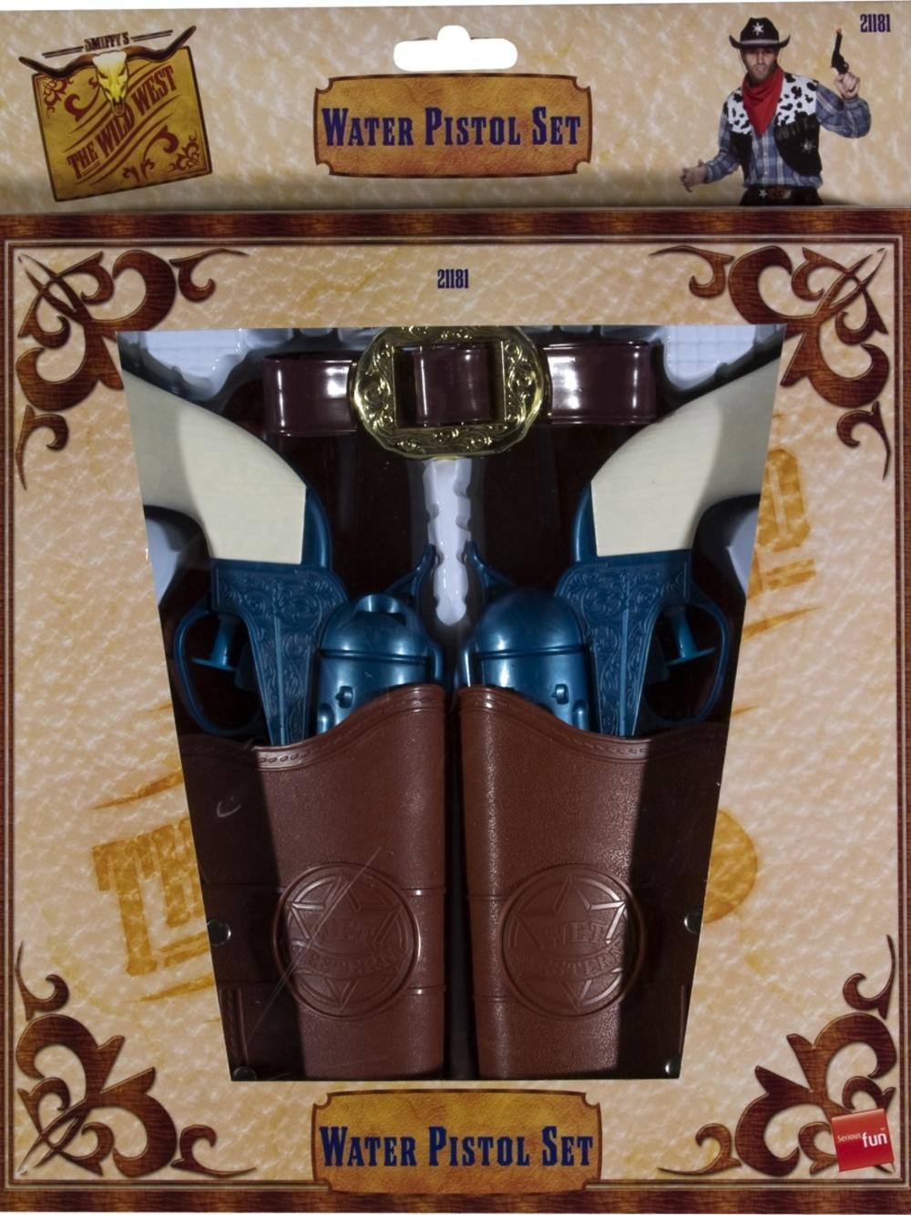 Western Water Pistol, Holsters & Belt Costume Accessory