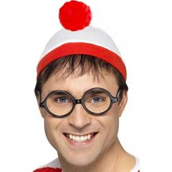Where's Wally ? Hat and Glasses Set Costume Accessory