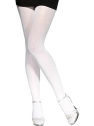 White 70 Denier Tights Costume Accessory