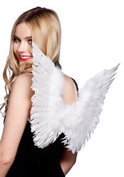 White Angel Feather Wings Costume Accessory