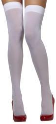 White Opaque Hold-Ups Costume Accessory