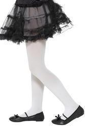 White Opaque Tights Childs Costume Accessory