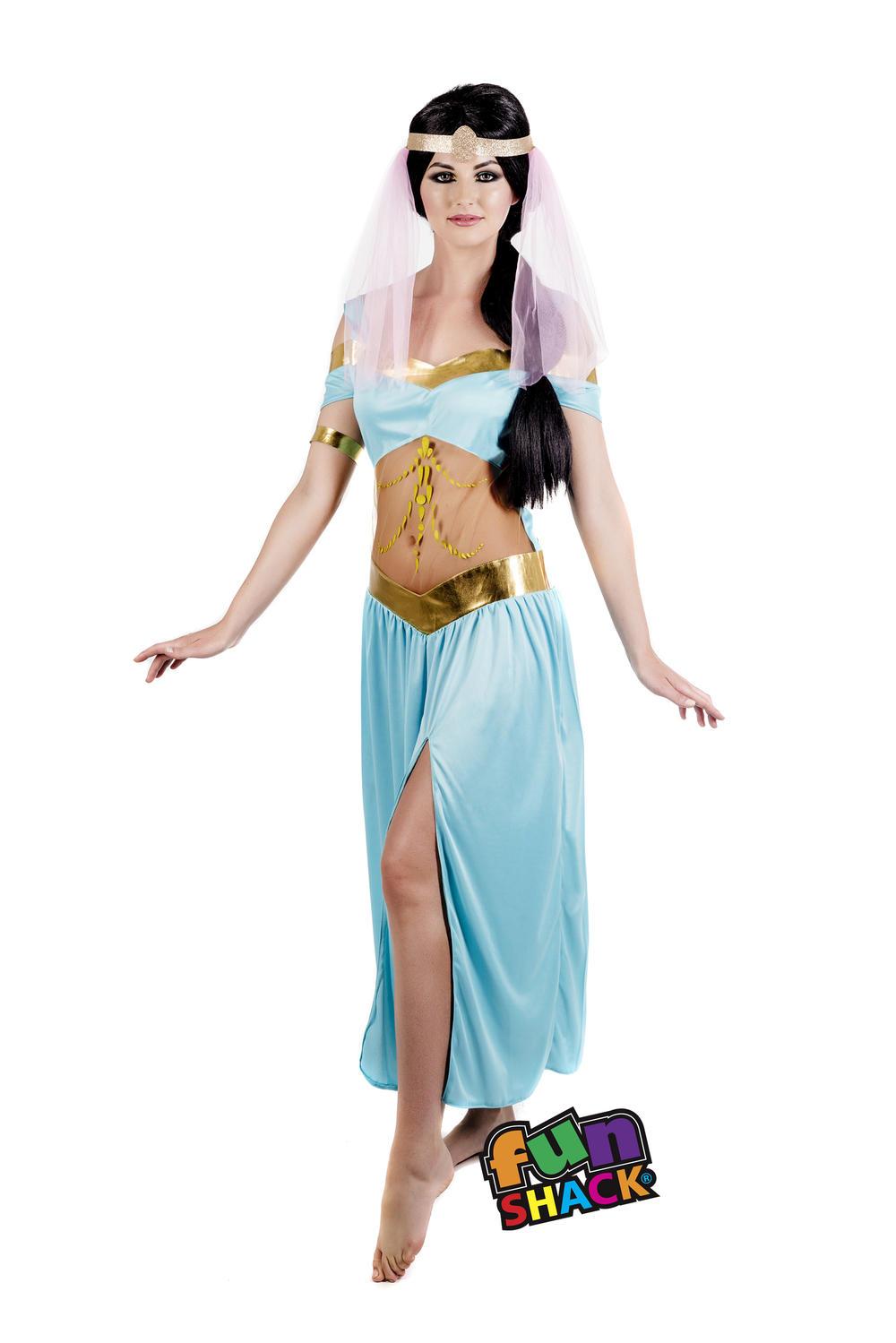 Arabian Nights Princess Ladies Fancy Dress Fairytale Jasmine Adult Women Costume