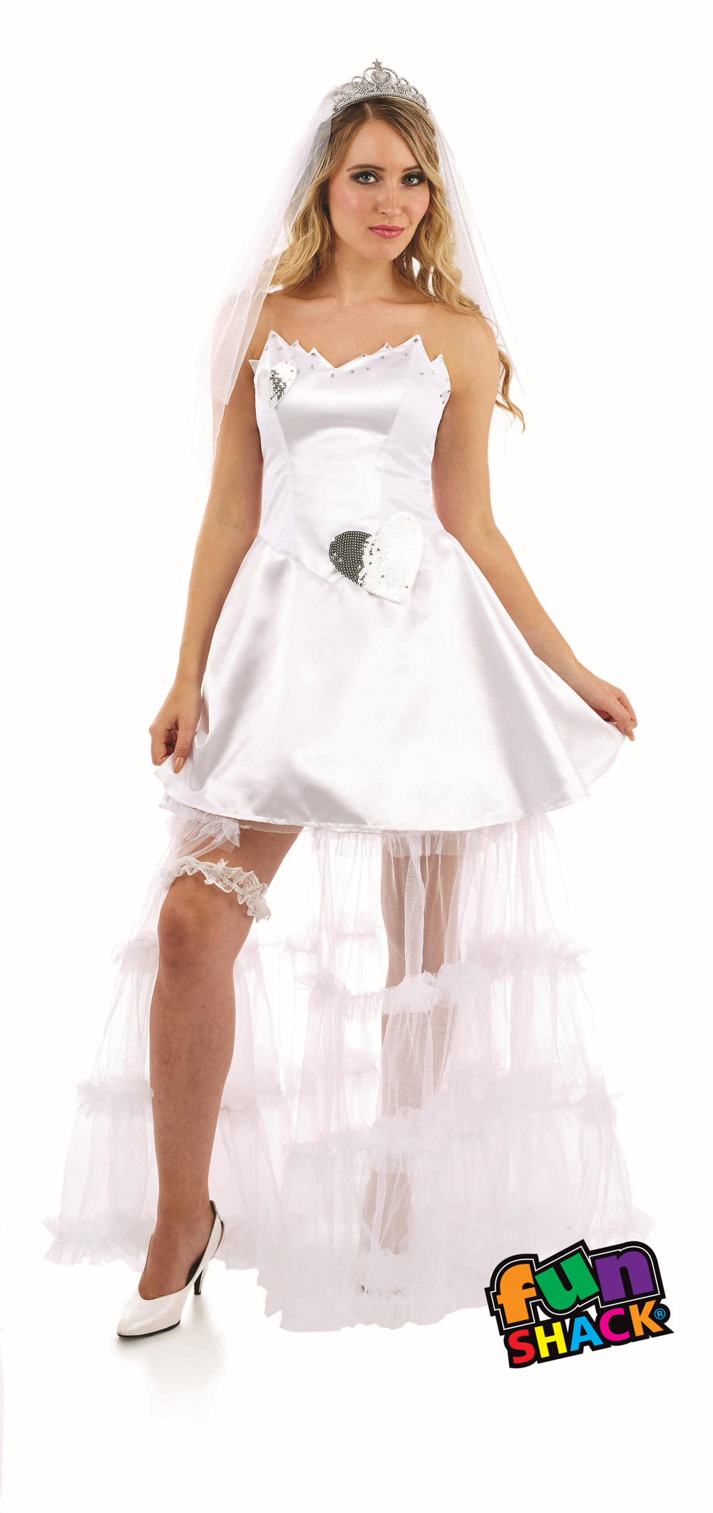 Ladies Bride Fancy Dress Wedding Hen Night Womens Adults Party Costume Outfit
