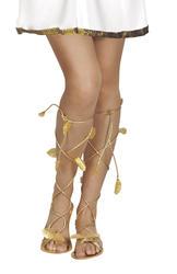 Women's Gold Leaf Laurel Sandals Costume Accessory