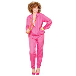 Pink Ladies Shell Suit 1980s Fancy Dress Adults 80's Womens Tracksuit Costume