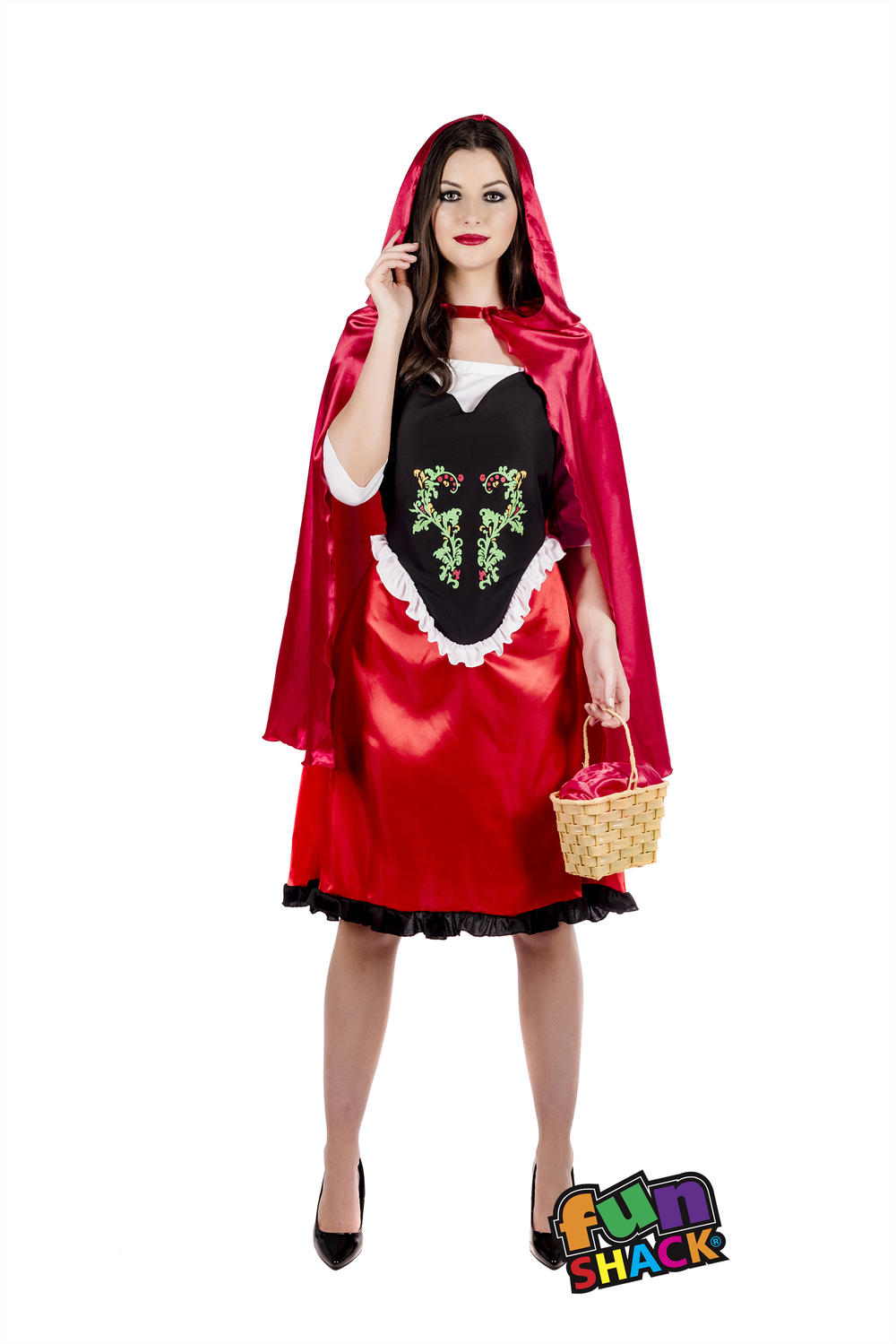 Red Riding Hood Ladies Fancy Dress Fairytale Story Book Day Adult Costume Outfit