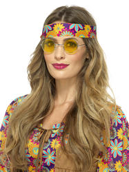 Yellow Hippie Specs Costume Accessory