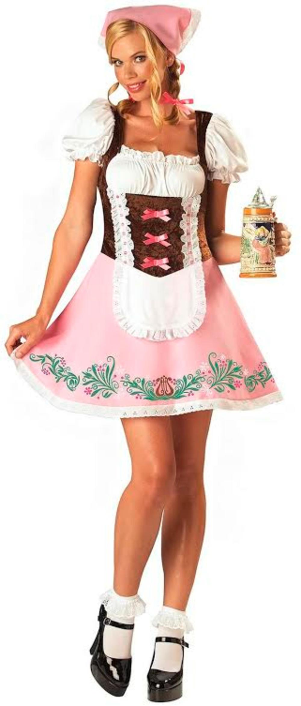 Fetching Fraulein Ladies Fancy Dress German Beer Maid Adults Oktoberfest Costume