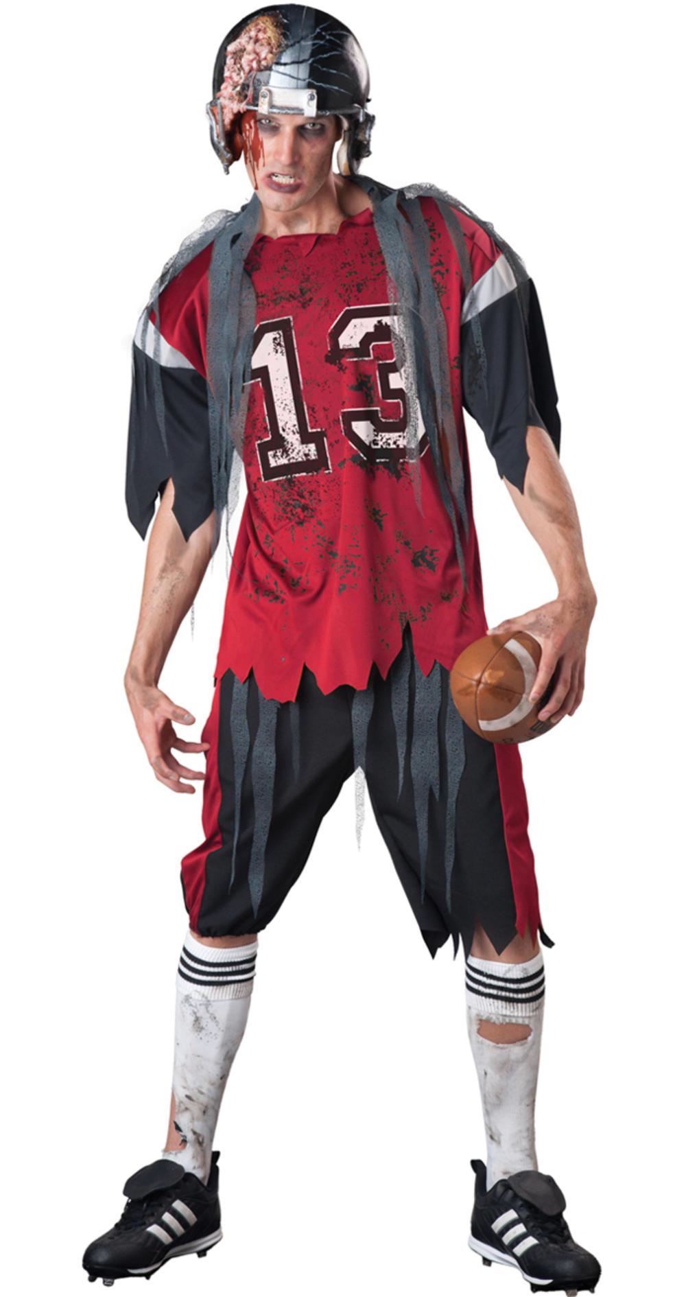 American Footballer Zombie Mens Halloween Fancy Dress Horror Adults Costume New