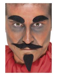 Evil Devil Facial Hair Set Halloween Costume Accessory