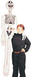 "72"" Inflatable Skeleton Fancy Dress Prop"